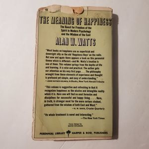 Vintage Accents - THE MEANING OF HAPPINESS Alan W. Watts Book